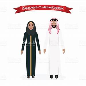 Saudi Arabia Traditional Clothes People Stock Vector Art ...