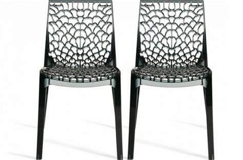 chaises transparentes pas cher lot de 2 chaises fumées transparentes gruyer chaises design pas cher