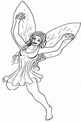 Fairy Coloring Fairies Printable Drawing Pixie Hollow Fantasy Draw Hatter Mad Sketch 321coloringpages Library Clipart Coloringhome sketch template