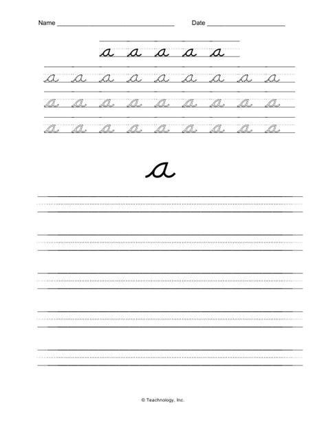d nealian cursive printables homeschool teaching cursive cursive handwriting practice