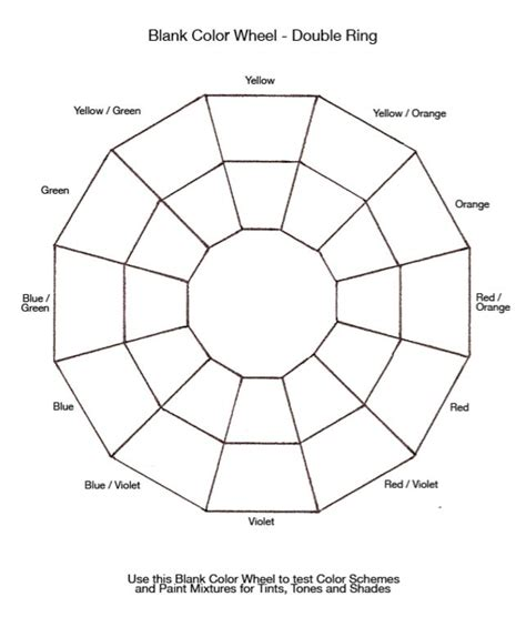 blank color wheel exercise 1 free colour wheel exercises cristel mol