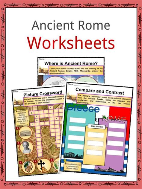 ancient rome facts information worksheets teaching