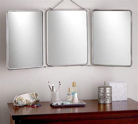 Tri Fold Bathroom Wall Mirror by Vintage Tri Fold Wall Hung Mirror