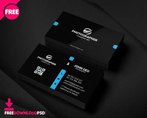 personal business card template freedownloadpsdcom