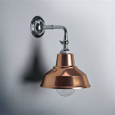 bespoke unique copper style wall light