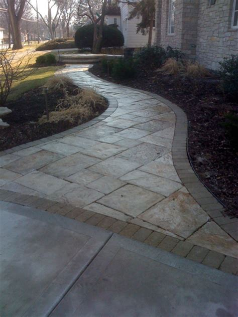 paver front walkway brick and natural stone paver walkways landscape design