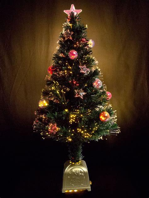 multi colour with bauble star decorations fibre optic