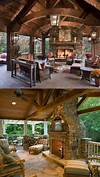 outdoor living space with fireplace Super cozy outdoor living area with fireplace and tv