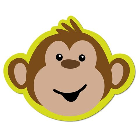 monkey face drawing clipart