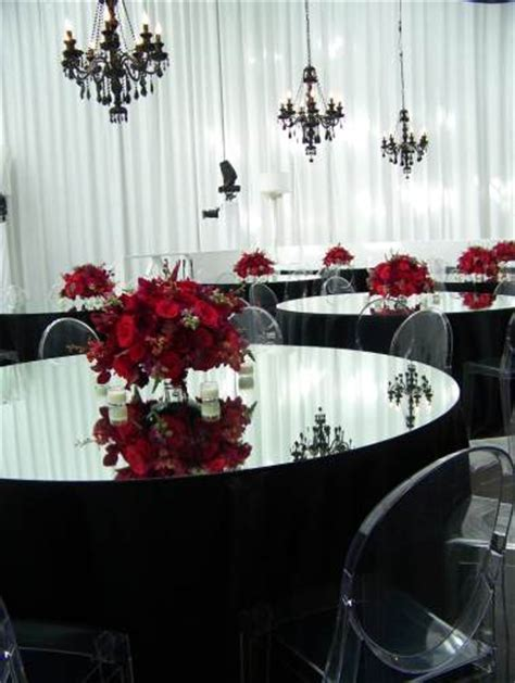 black and red wedding theme vintage glam with a dramatic
