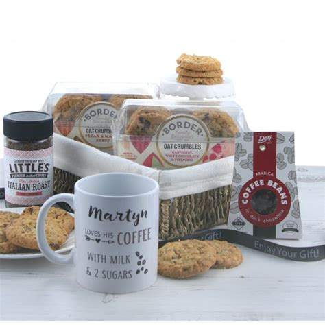 You'll find loads of ideas for coffee lovers, all designed and made in the uk on folksy. Gifts for Coffee Lovers   Personalised Coffee Gift Basket