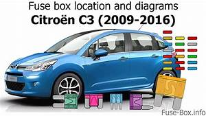 Fuse Box Location And Diagrams  Citroen C3  2009-2016