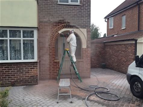 exterior paint soda blasting uk