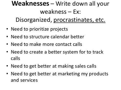 What To Write In Strengths And Weakness In Resume by Strengths Weaknesses Opportunities And Threats