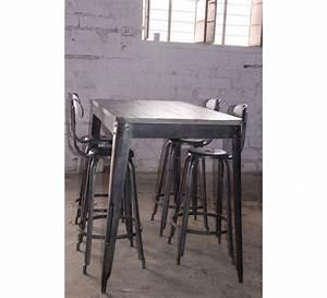 Table Bar Industriel : best 25 table haute industrielle ideas on pinterest table haute cuisine tabouret bar ~ Teatrodelosmanantiales.com Idées de Décoration