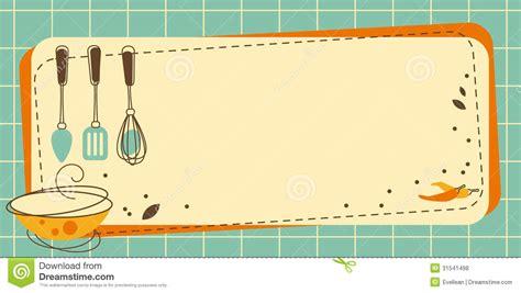 cadre photo cuisine cadre de cuisine illustration de vecteur illustration du