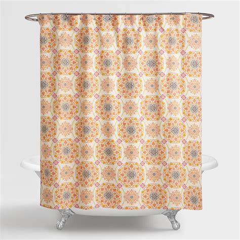 shower curtains world market medallion julianna shower curtain world market