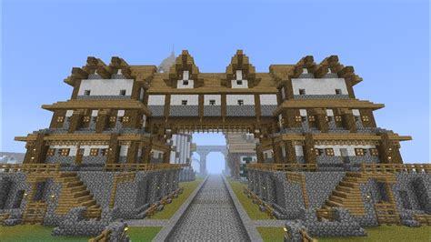 minecraft medieval huge building home tutorial part
