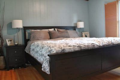 ikea hemnes king bed frame alvine kvist grey blue