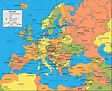 Prague map europe - Map of europe showing prague (Bohemia ...