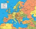 Prague map europe - Map of europe showing prague (Bohemia ...