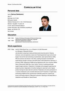 german cv template doc calendar doc With cv in english