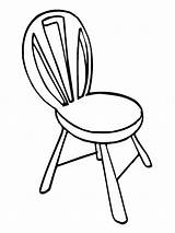 Chair Coloring Mycoloring Printable sketch template