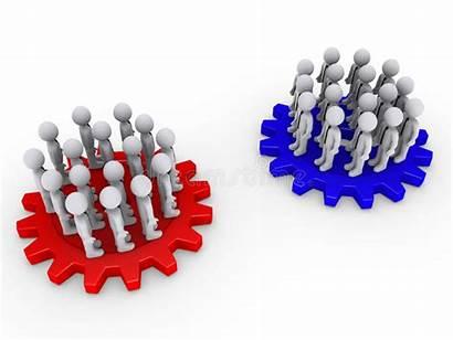 Teams Opposing Internal External Cogwheels 3d Consultants