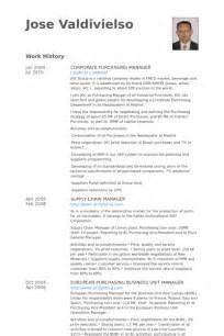 purchasing manager description resume purchasing manager resume sles visualcv resume sles database