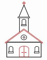 Church Draw Drawing Cartoon Drawings Cartoons Easy Clipart Roof Funny Clip Simple Door Outline Hand Projects Sketch Quiet Step Beginners sketch template