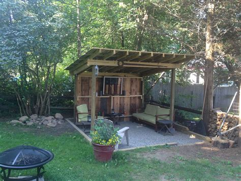 Backyard Bbq Shack Completed. Was Supposed To Cover My