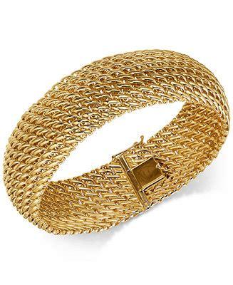 italian gold wide riso link bracelet   gold