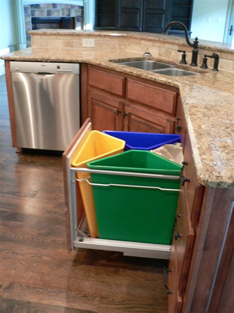 kitchen trash can ideas kitchen recycling system for the home