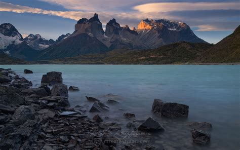 Last Light On Cuernos Del Paine Torres Del Paine National