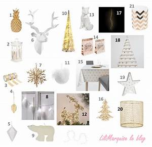 Sélection décoration pour un Noël blanc et or LiliMarquise