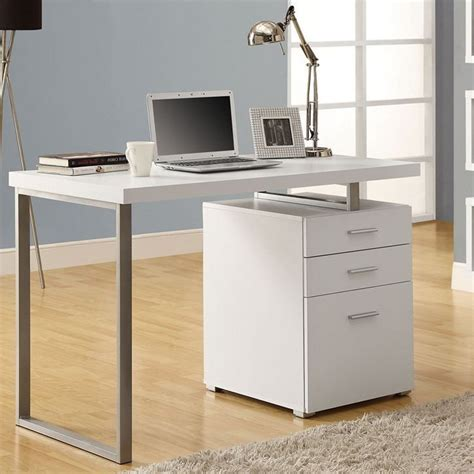 white desk with file cabinet computer desk with filing cabinet techni mobili computer