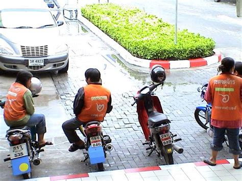 Motorcycle Taxi Business Booming In Thailand
