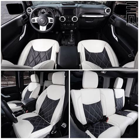 white and black jeep wrangler interior photos of the jeep wrangler featuring custom two
