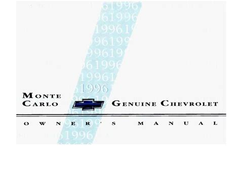 chevrolet monte carlo owners manual  give