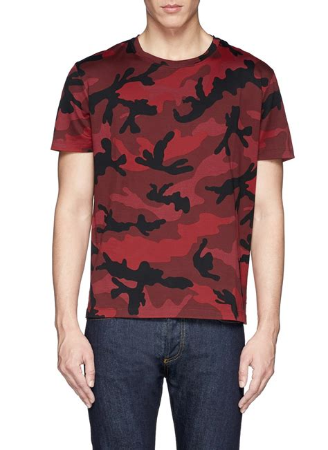 valentino t shirt valentino camouflage t shirt in for lyst