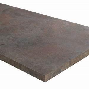 Plan De Travail Bambou : plan de travail oxyde 307 x 65 cm karusti castorama ~ Melissatoandfro.com Idées de Décoration