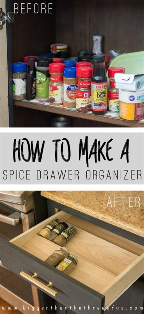 spice drawers kitchen cabinets get organized with this diy spice drawer organizer 5649