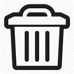 Icon Trash Clean Discard Bin Rubbish Waste
