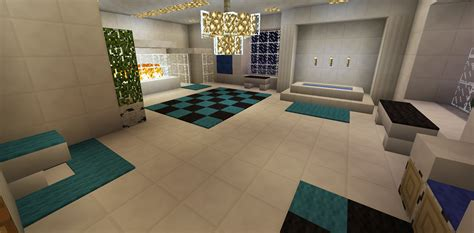 minecraft bathroom ideas minecraft bathroom garden bath tub glass shower fireplace
