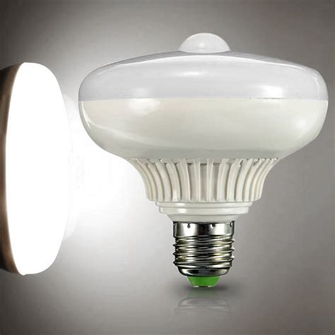 e27 12w auto motion sensor led infrared light bulb