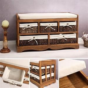 Sitzbank Flur Vintage : sitzbank vintage braun kommode flurbank truhe shabby real ~ Watch28wear.com Haus und Dekorationen