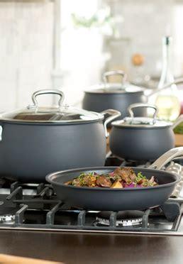piece  stick dishwasher safe hard anodized belly cookware set biltmore