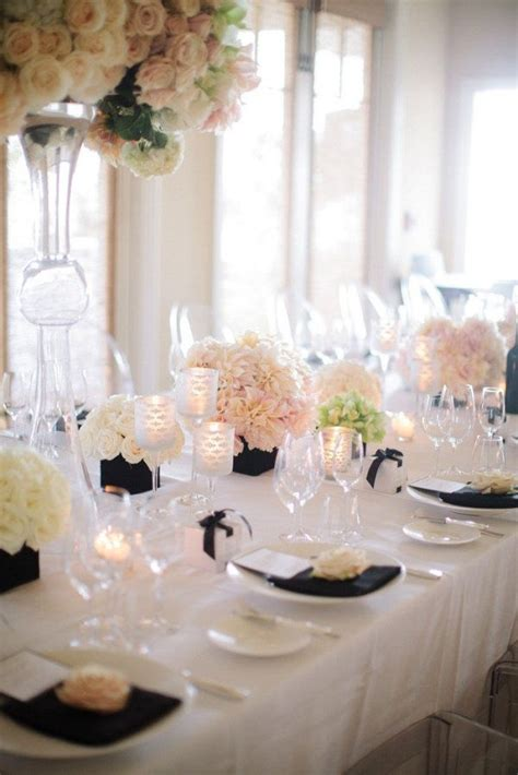 black white wedding theme ideas dipped in lace