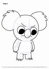 Bare Bears Cartoon Nom Coloring Step Draw Network Drawing Template Drawingtutorials101 Tutorials Sketch sketch template