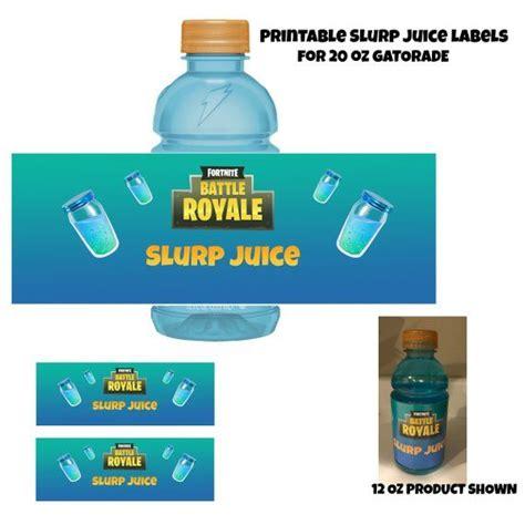 slurp juice printable gatorade label perfect  battle